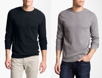 50% off The Rail Men's Crewneck Thermal Shirt, 3 Colors