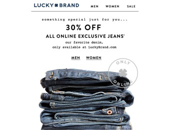 Lucky Brand Sale - 30% Off Online Exclusive Jeans