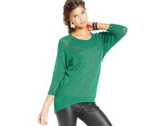 93% off H.I.P. Juniors' Metallic Raglan-Sleeve Sweater