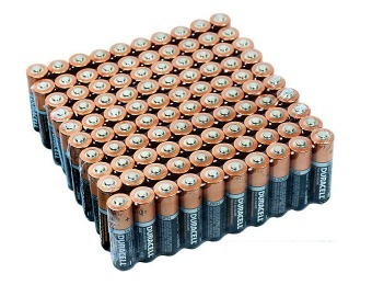 67% off 100-Pack: Duracell Alkaline Batteries, AA or AAA