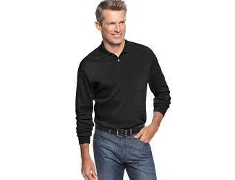 88% off John Ashford Long Sleeve Interlock Polo Shirt, 2 Colors