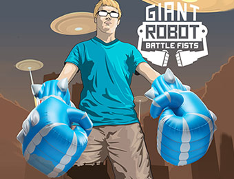 77% off Giant Inflatable Robot Battle Fists