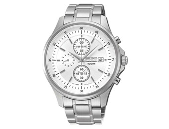 66% off Seiko SNDE17 Chronograph Men's Stainless Steel Watch