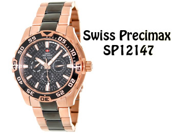 91% off Swiss Precimax SP12147 Two-Tone Stainless Steel Watch