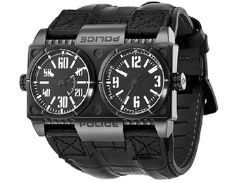 80% off Police PL.12899XSB/02 Men's Dominator Leather Watch