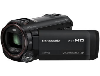 $150 off Panasonic HC-V750K Full HD Enhanced WiFi Camcorder