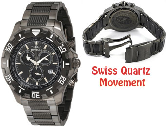 72% off Invicta 6412 Python Chronograph Gun Metal Watch