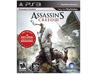 50% off Assassin's Creed III Video Game (Playstation 3)