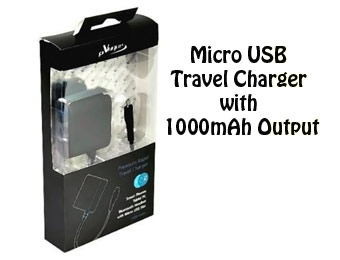 76% off eVogue TCE-MICROUSB-BK Micro USB Travel Charger