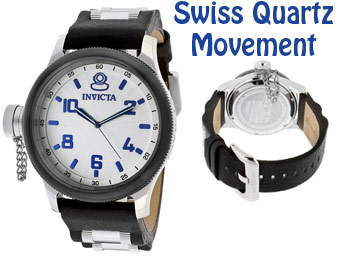 95% off Invicta Russian Diver Genuine Leather Swiss Watch