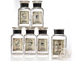 82% off Halloween Apothecary Jars - Set of 6