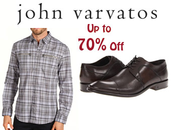 Up to 70% off John Varvatos Clothing, Shoes & Accessories