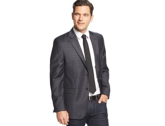 87% off Lauren Ralph Lauren Navy Windowpane Slim-Fit Sport Coat