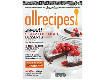 $25 off Allrecipes Magazine Subscription, $4.99 / 6 Issues