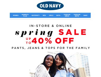 Old Navy Spring Sale - Up to 40% Off Styles for the Entire Family