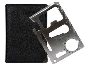 24% off 11 Function Credit Card Size Survival Pocket Tool