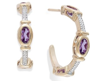 92% off Victoria Townsend Amethyst Cable C-Hoop Earrings