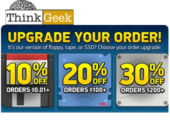 Save up to 30% at ThinkGeek with Code: UPGRADE@DPZN23
