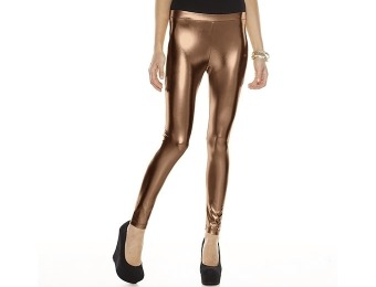 80% off Pink Republic Holiday Bronze Metallic Leggings - Juniors