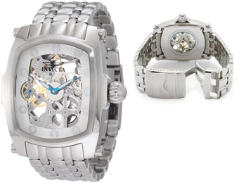 86% off Invicta 1252 Lupah Mechanical Skeletonized Watch