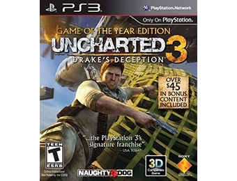 50% off Uncharted 3: Game of the Year Edition PlayStation 3