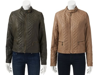 80% off J2 by Jou Jou Quilted Faux-Leather Jacket - Juniors
