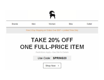 Save 20% off One Full-Priced Item at Backcountry.com