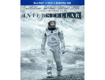 53% off Interstellar (Blu-Ray + DVD + HD)