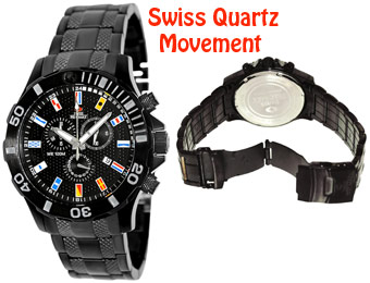 91% off Swiss Precimax SP13050 Armada Pro Stainless-Steel Watch