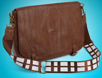 "45% off Star Wars Chewbacca Faux Leather 15""x10"" Messenger Bag"