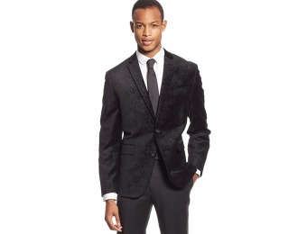 $244 off Bar III Carnaby Collection Paisley Velvet Slim-Fit Sport Coat