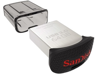 Extra 56% off SanDisk Ultra Fit 64GB USB 3.0 Flash Drive, 130MB/s