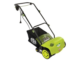 "$91 off Sun Joe AJ800E 14"" Electric Dethatcher with Collection Bag"