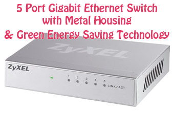 70% off ZyXEL GS105B 5 Port Gigabit Ethernet Switch