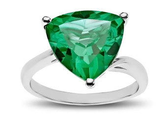 67% off Sterling Silver 5 Carat Green Quartz Ring