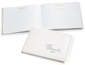 Love Silver Lettering Guest Book (60 pages) for $7