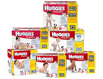 Extra $6 off Huggies Snug and Dry Diapers (Choose Your Size)