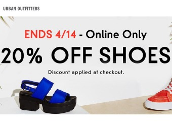 20% off Men's & Women's Shoes at Urban Outfitters