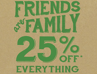 25% off entire store at Roots.com - Men's, Women's, Leather