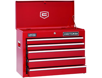 60% off Craftsman 5-Drawer Red Ball-Bearing Griplatch Top Chest