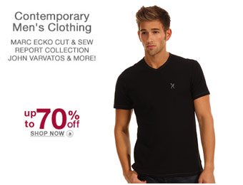 Up to 70% off Contemporary Men's Clothing, Ecko, John Varvatos