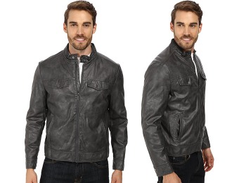$159 off Kenneth Cole Reaction PU Zip Front Jacket