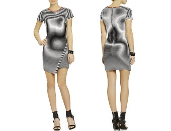 65% off Jodi Kristopher Striped Envelope Hem Dress