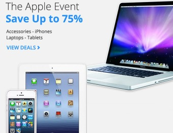 Groupon Apple Event Sale - Up to 75% off