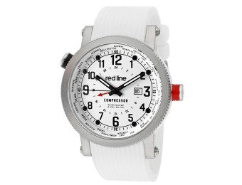 $550 off Red Line 18003-02BB-WH Compressor White Silicone Watch