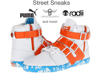 Up to 70% off Street Sneakers, Puma, Radii, Converse