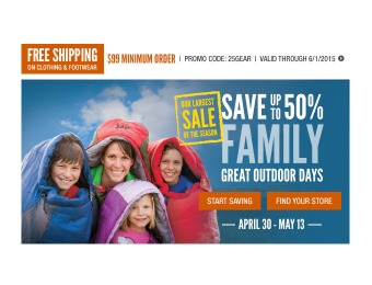 Cabela's Family Great Outdoors Sale - Up to 50% off