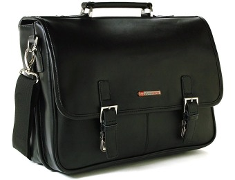 $200 off Alpine Swiss AS-9525 Leather Dressy Messenger Bag