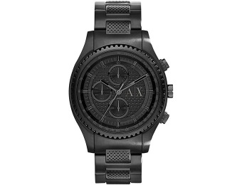 $150 off A|X Armani Exchange Men's Chronograph Black Watch