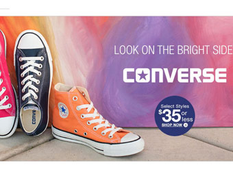 Deal: Converse Shoes, Bags & Accessories $35 or Less